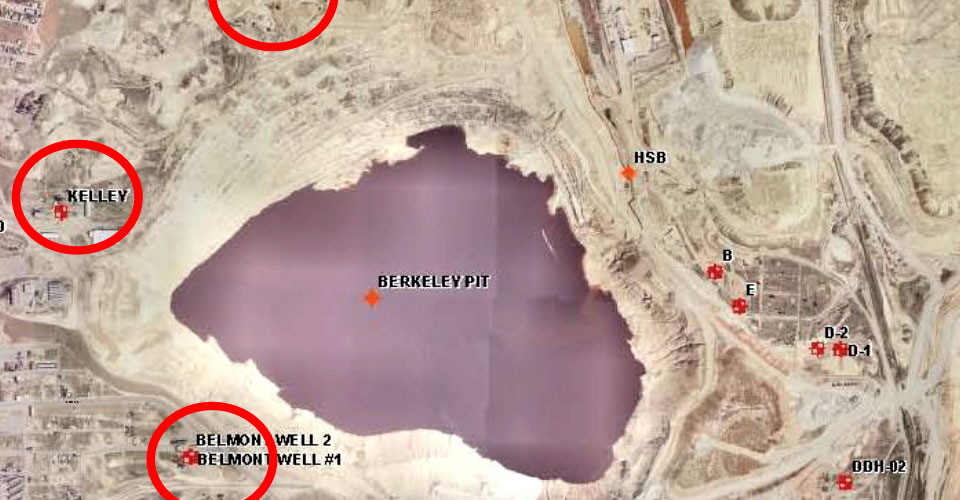 Monitoring compliance points in the Berkeley Pit groundwater system