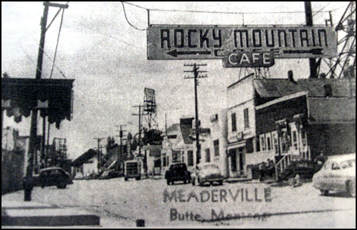 Historic photo of Meaderville. Photo courtesty of the Butte-Silver Bow Public Archives.